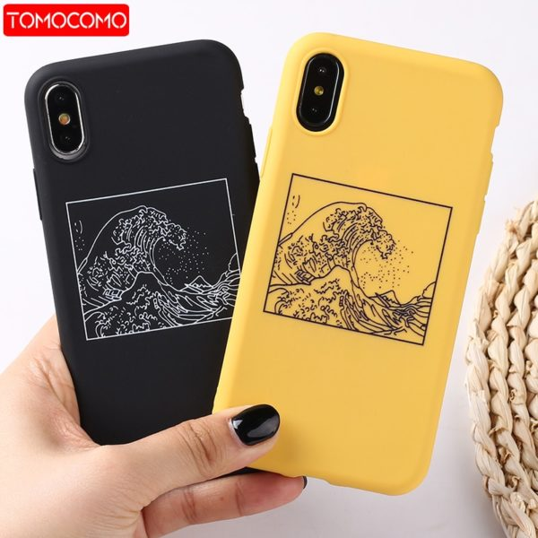 , The Great Wave off Kanagawa Back Cover Soft Phone Case Fundas For iPhone 7Plus 7 6Plus 6 6S 5S 8 8Plus X XS Max