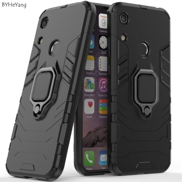 , For Huawei Y6 2019 Case Cover Honor Play 8A Finger Ring Phone Case Shell Bumper Hard PC Armor Case For Huawei honor 8a/Y 6 2019