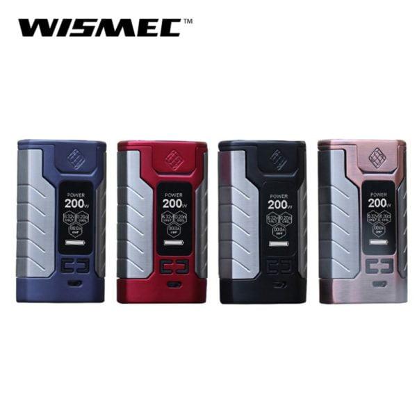 , Original Wismec Sinuous FJ200 Mod Box 200W Output Vape Mod with Built in 4600mah Battery VW/TC-Ni/TC-Ti/TC-SS/TCR mode E-cigs
