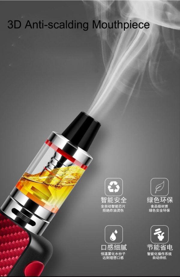 , NEW 80w electronic cigarette mod box kit 2.5ml tank 0.3ohm smoke vape pen hookah mini e-cigarettes vaporizer e sigara vaper