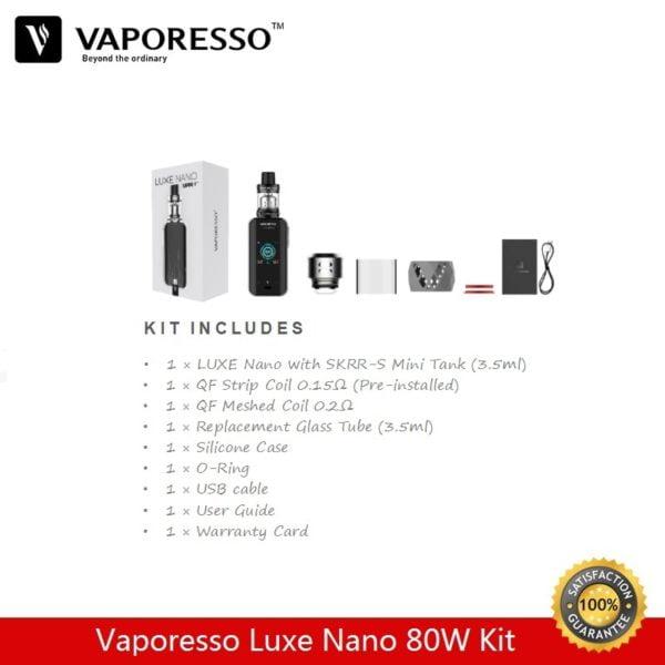 , Pre-order Vaporesso Luxe Nano Kit Skrr-S 3.5ml Vape Tank with 80W Box Mod QF Mesh Coil Vaporizer E-Cigarette Kit vs voopoo Drag