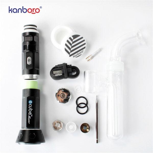 , kangboro Electronic cigarettes ecube vape kit dab rig wax/oil vaporizer atomizer starter kits vape mod huge smoking vaporizer