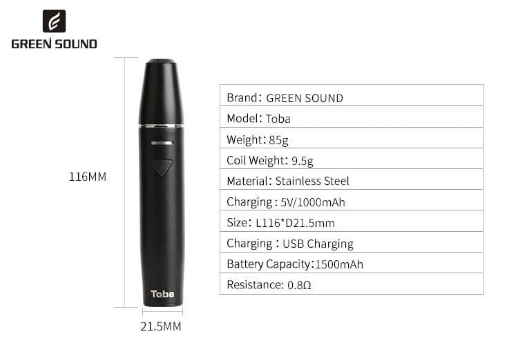 10pcs/lot GreenSound TOBA ICOS vape pen 1500mah Electronic cigarette  vaporizer kit vaper cigarettes for iCos vapor vapes hookah
