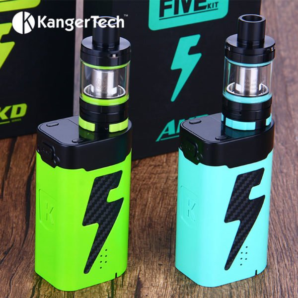 , Original 222W Kangertech FIVE 6 Vape Kit with Kanger FIVE 6 mod & 8ml Five-6 Tank 0.6ohm Coil Electronic Cigarette vs Luxe Kit