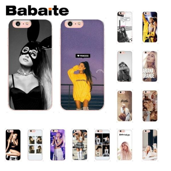 , Babaite ariana grande Newly Arrived Phone Accessories Case for iPhone 8 7 6 6S Plus 5 5S SE XR X XS MAX 10 Coque Shell