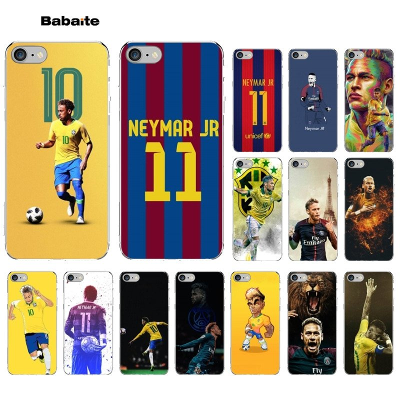 newest 7006f 54b14 Babaite Neymar Football Lovely Design Phone Accessories Case for iPhone 5  5S SE 6 6S Plus 7 8 XR X XS MAX Coque Shell