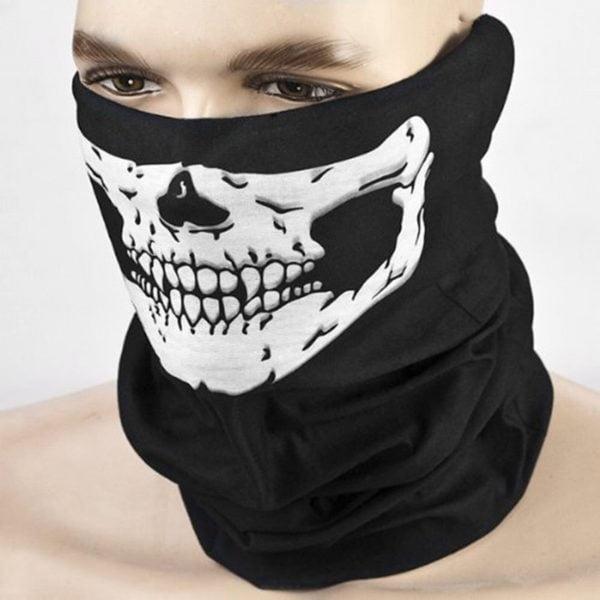 , Black Seamless Skull Half Face Tube Mask Bike Bicycle Balaclava Bandana Mascara Ciclismo Phone Bags and Cases Mobile Accessories